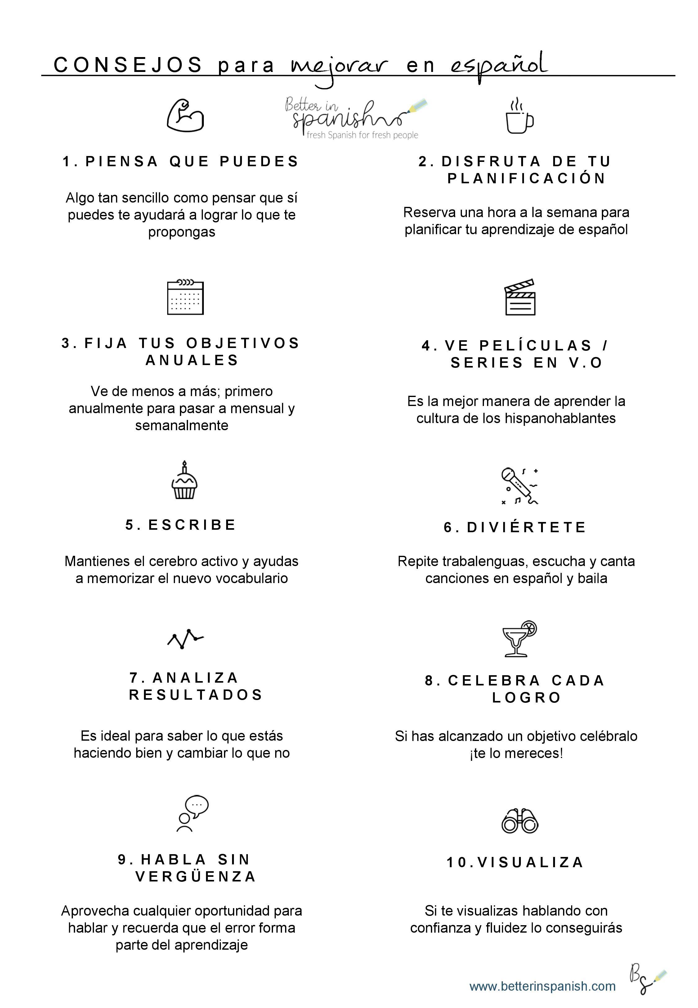 Agenda para amantes del español