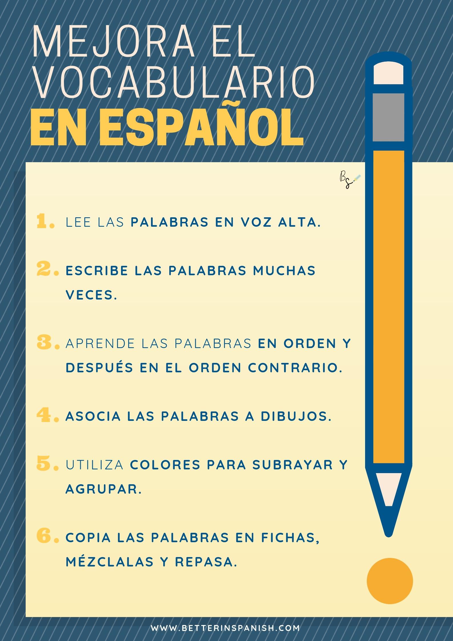 Mejora el vocabulario en español